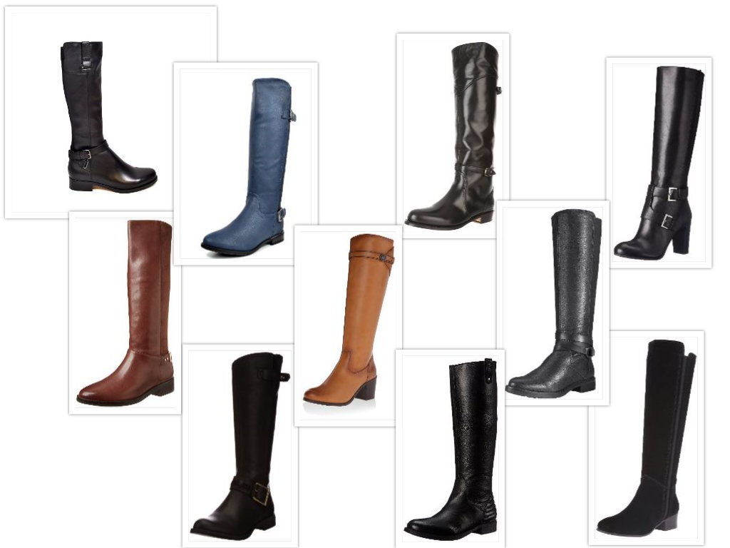 Knee High Boots for Narrow Calves Collage
