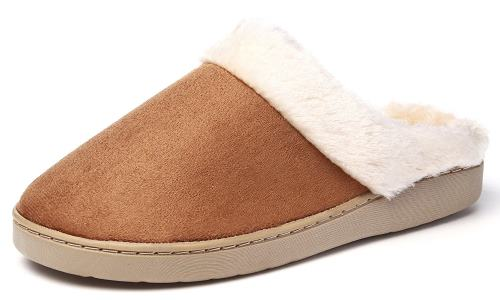 KushyShoo Women's Slip-on Fluffy Winter Clog Slippers