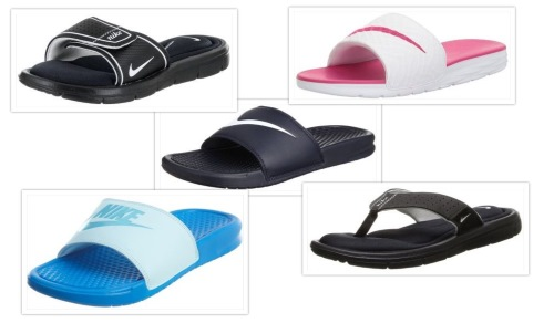 Nike slide sandals collage