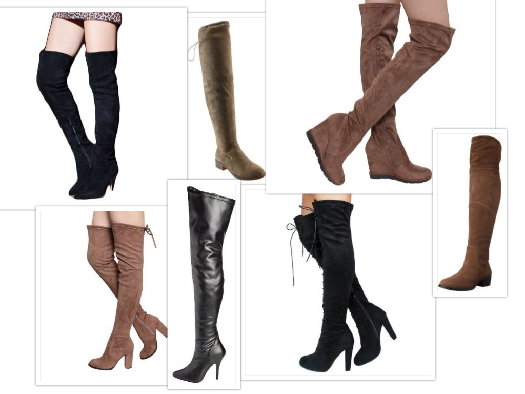 Over the Knee Boots Collage