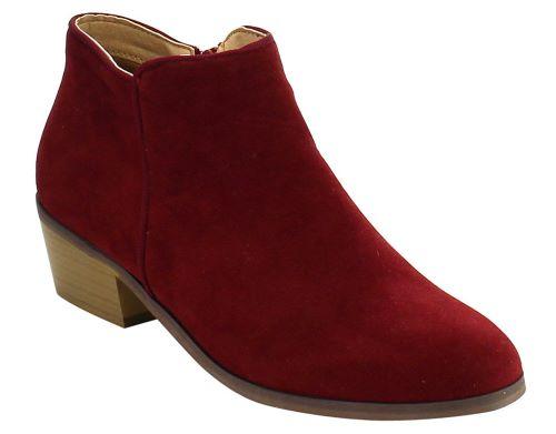 Reneeze BEAUTY-03 Women Sneaker Petty Stacked Heel Side Zipper Ankle Bootie