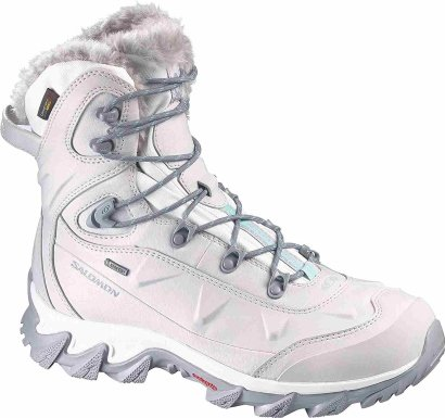SALOMON Women's Nytro GTX Winter Boots, Steel Grey Steel Gry/Cane/Softy Black 7