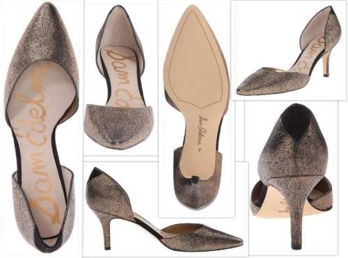 Sam Edelman opal pumps collage