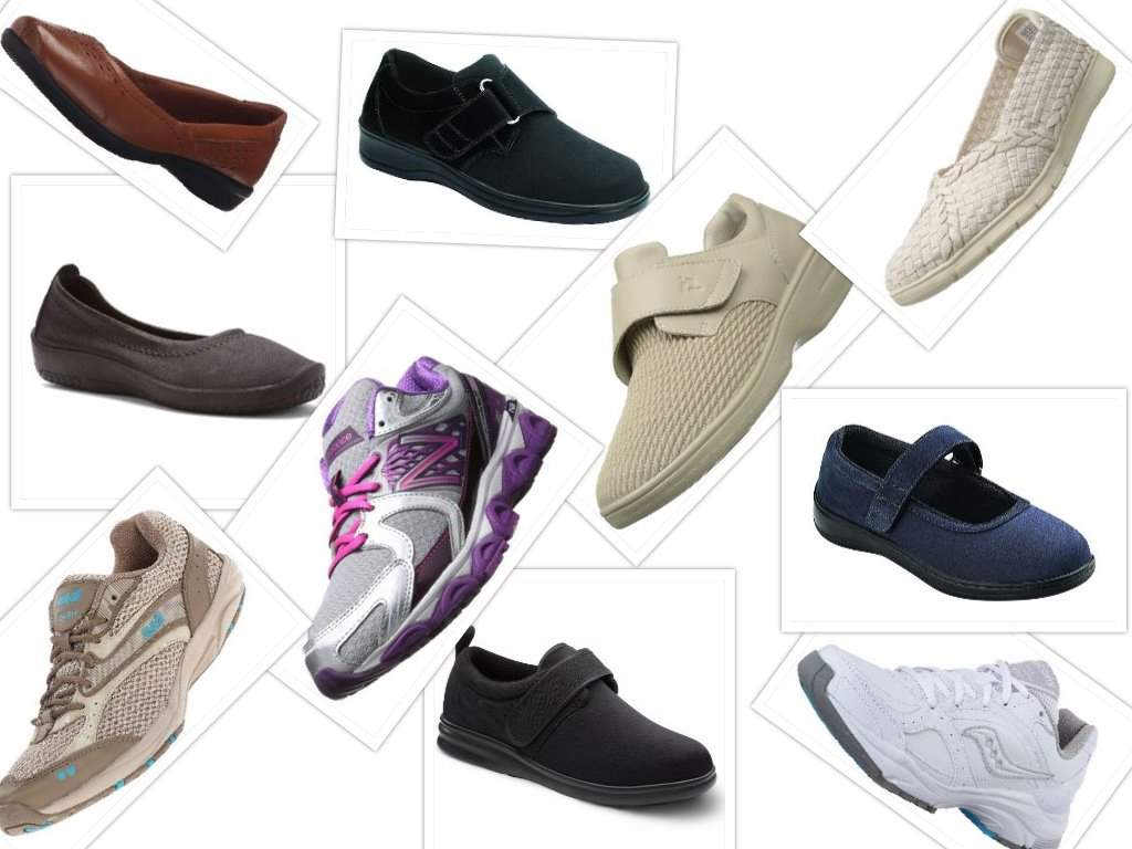 shoes for women with bunions collage