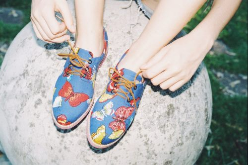 shoes with butterflies