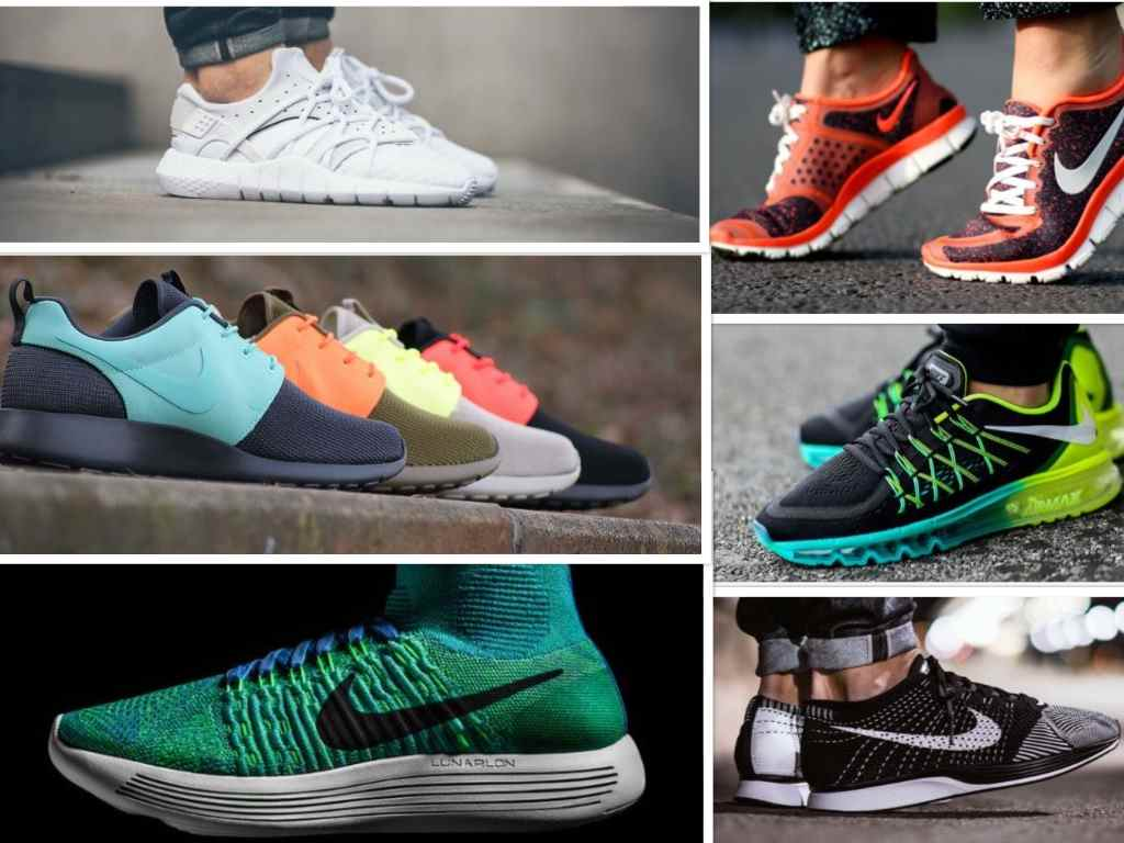 sneakers materials collage