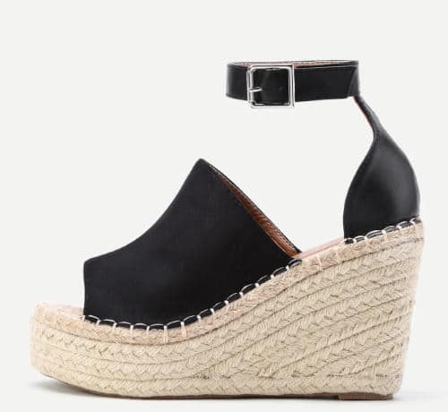 strapless wedge sandals