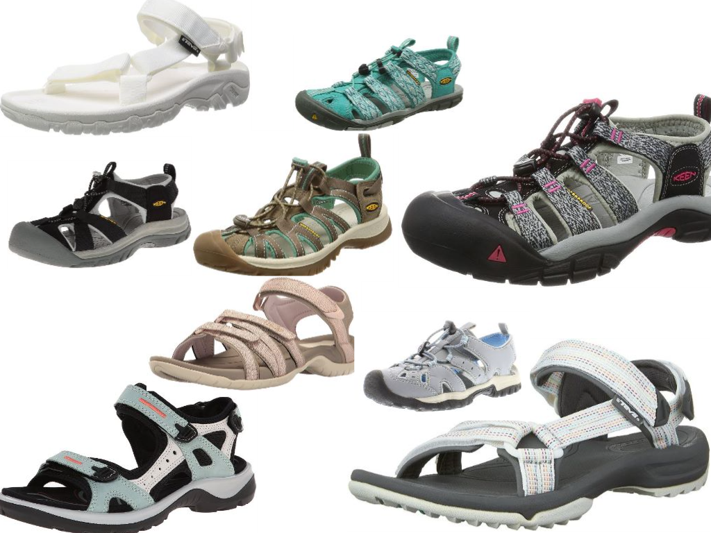 The Best Outdoor Hiking Sandals Collage