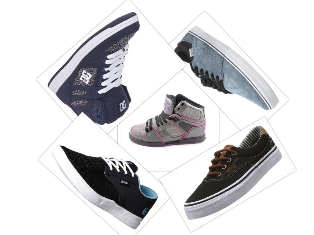 the best skate sneakers collage