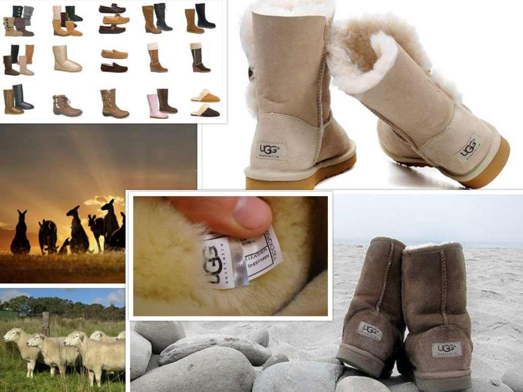 ugg shoes collage
