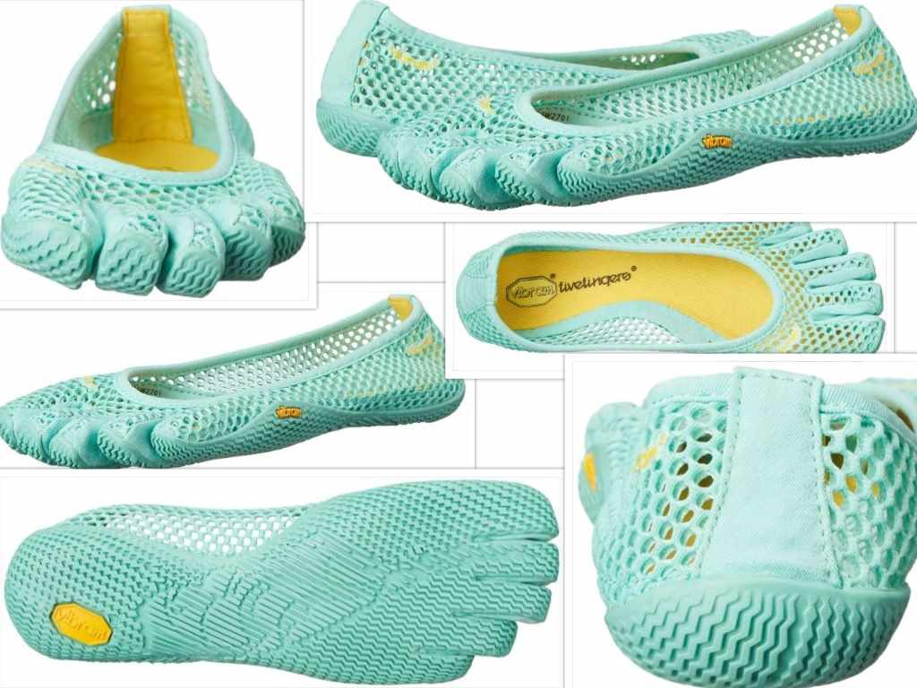 vibram womens VI B fitness and yoga shoe collage