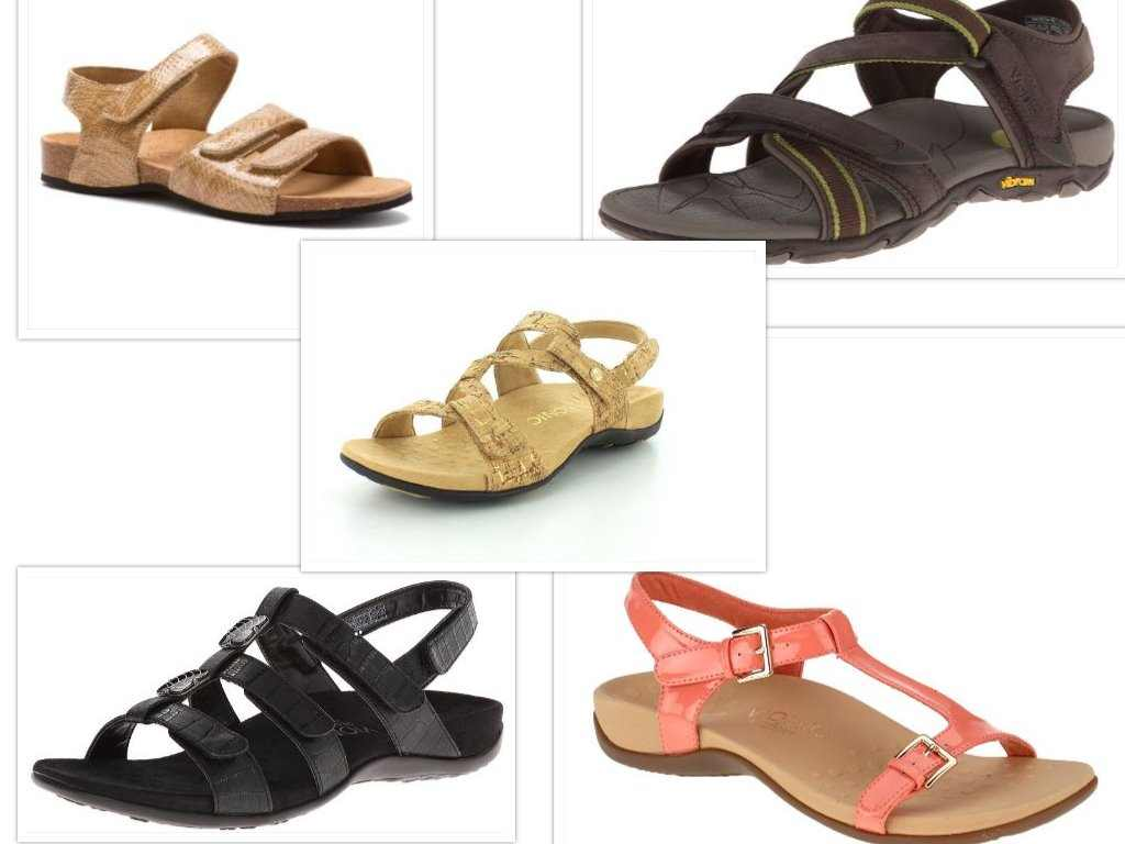 vionic sandals collage