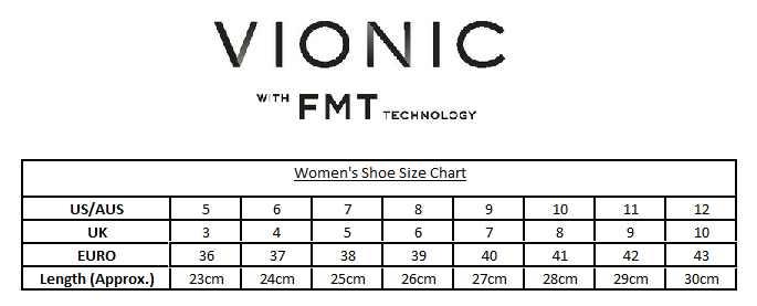 Vionic Women's Shoe Size Chart