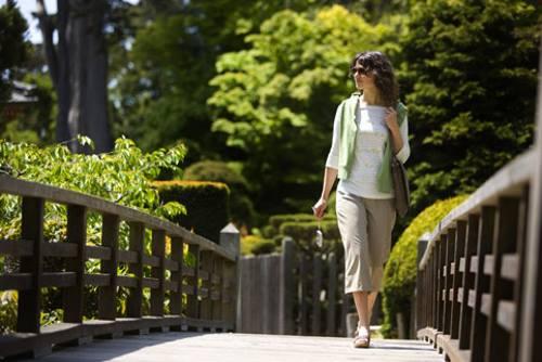 walking on bridge