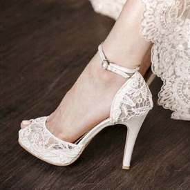 Bridal Ankle Strap Pumps
